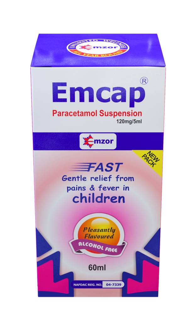 EMCAP PARACAETAMOL 120MG/5ML 60ML SUSPENSION