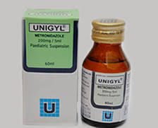 UNIGYL METRONIDAZOLE 200MG/5ML SUSPENSION *60MLS