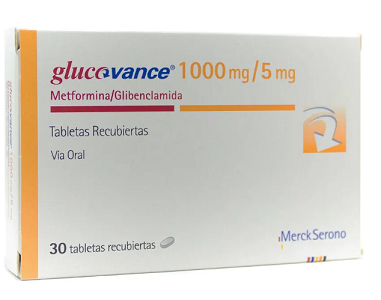 MERCK GLUCOVANCE 1000MG/5MG *30 TABS