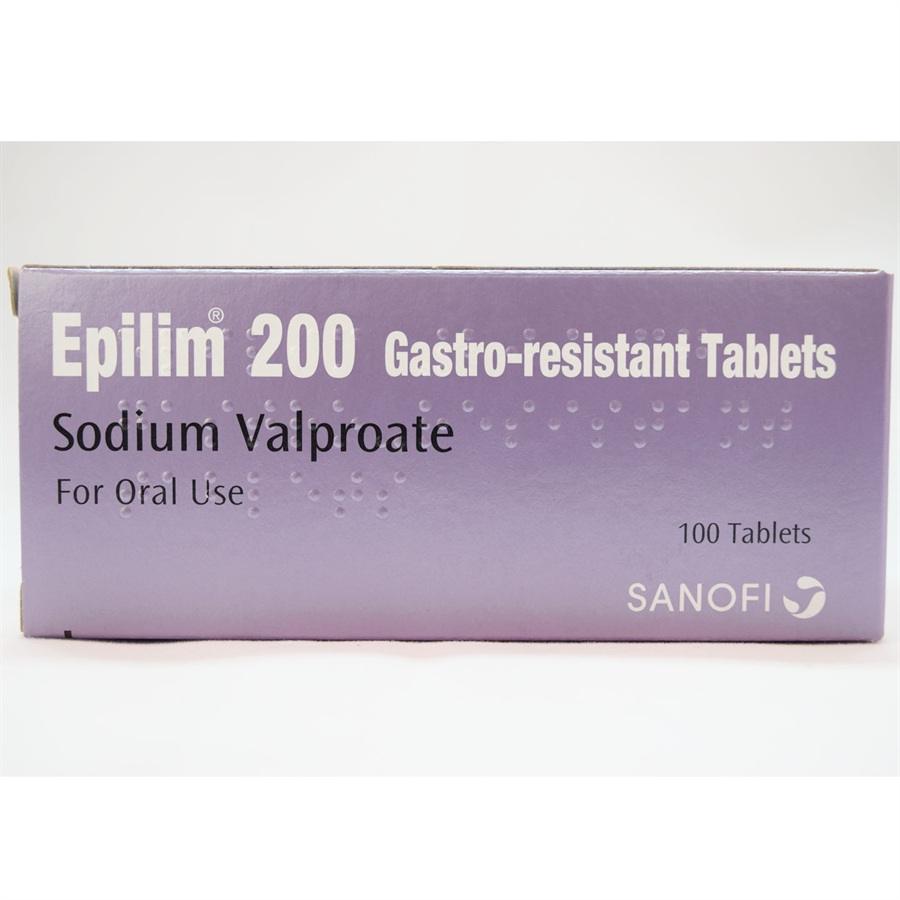 EPILIM SODIUM VALPROATE 200MG 100PILLS