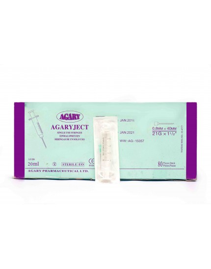 AGARY 20ML NEEDLE & SYRINE 100 PCS