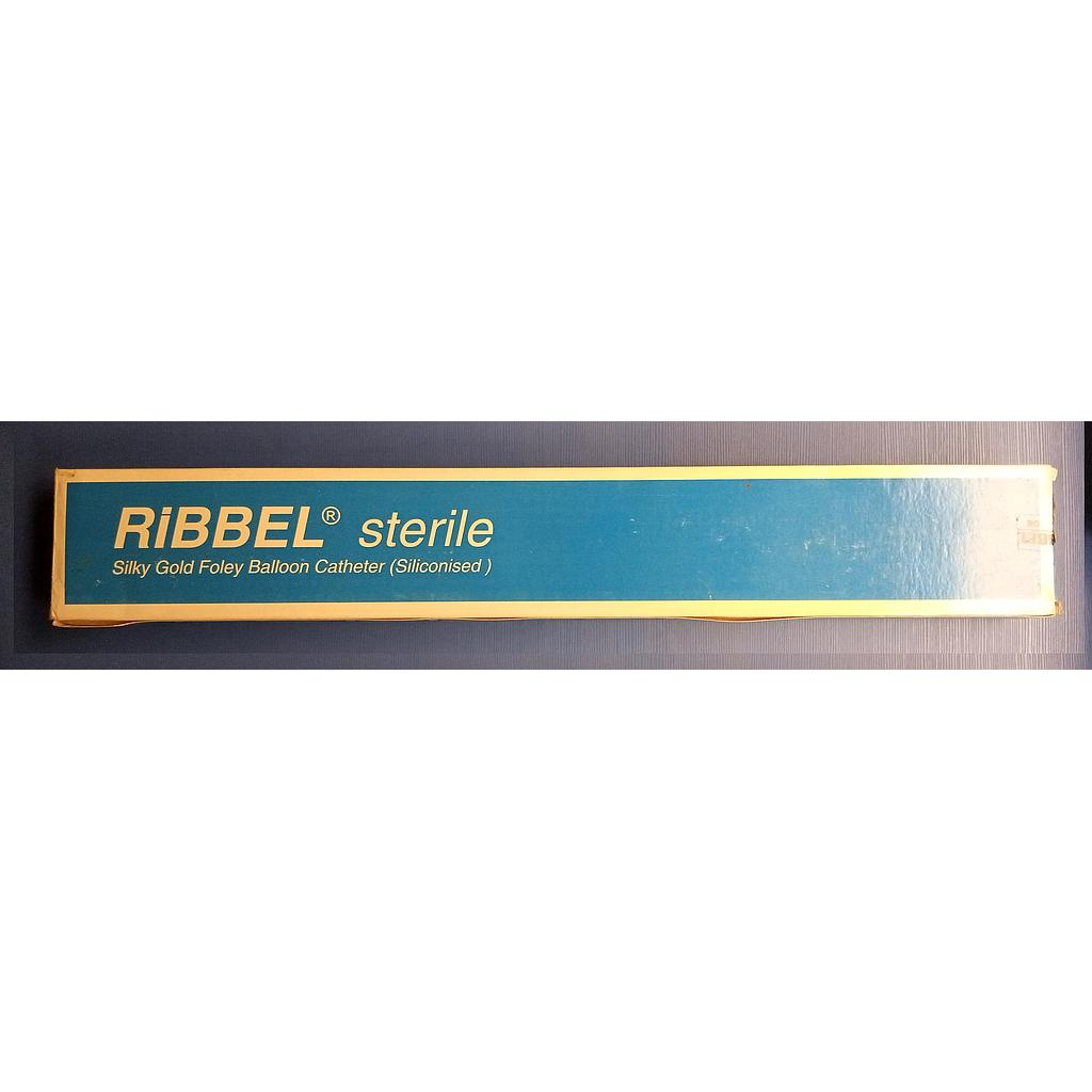 RIBBEL SILKY GOLD FOLEY BALOON CATHETER SIZE 22 X 1 PACK