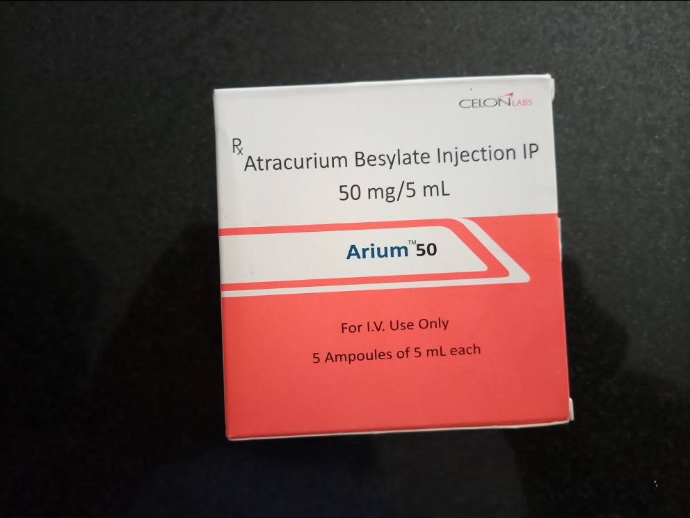 ARIUM ATRACURIUM 50MG/5ML X 5 AMPOULES